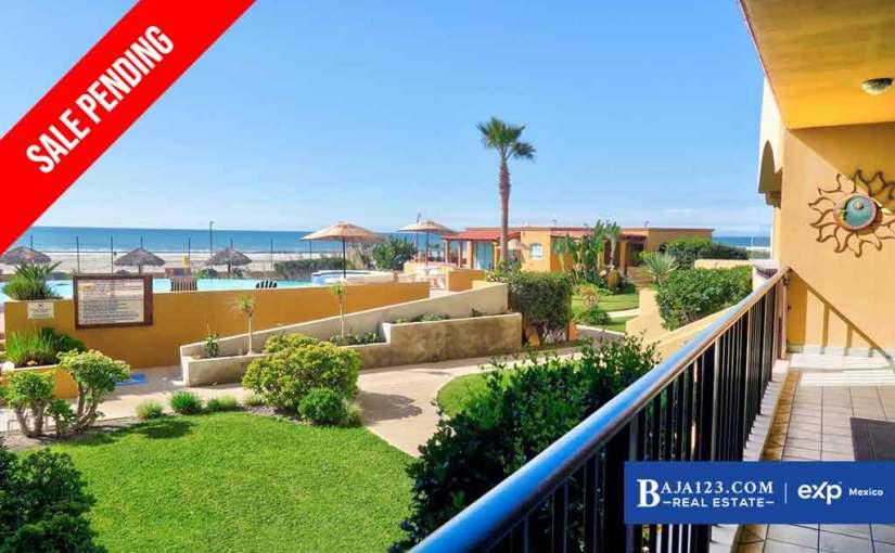 SALE PENDING – Oceanfront Condo For Sale in La Jolla de Rosarito, Playas de Rosarito – $250,000USD