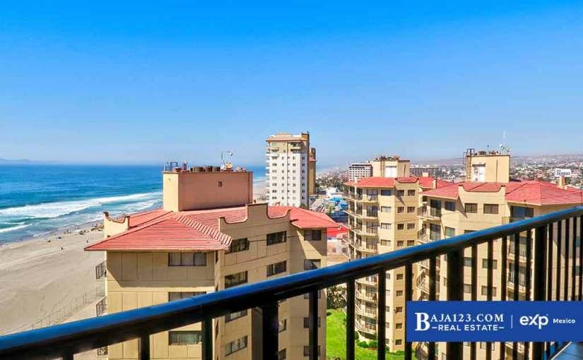 Oceanfront Condo For Sale in Oceana Casa del Mar, Rosarito Beach – $249,000 USD
