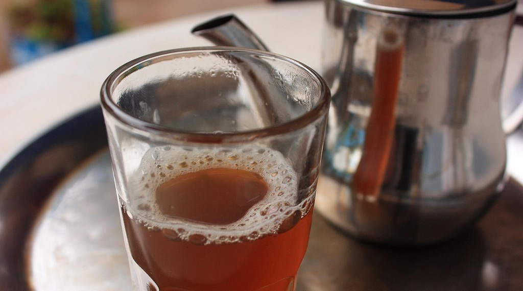Mint tea during hot days in Morocco is the best