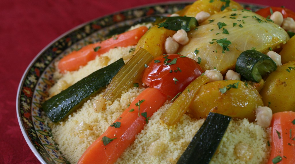 Couscous and its vegetables