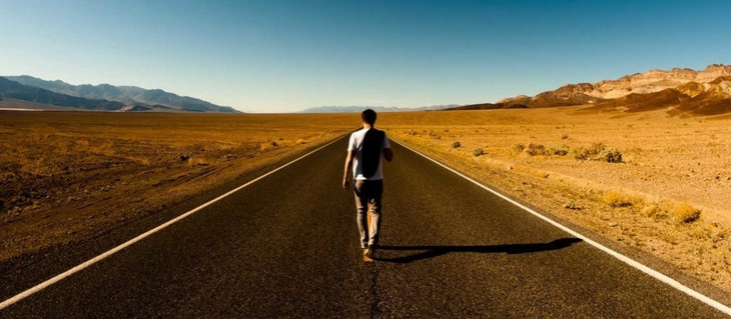 walking Alone on long a road