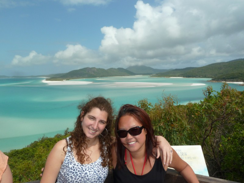 Two woman smiling in the Whitsundays