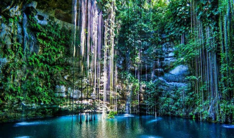 A cenote in Tulum Mexico