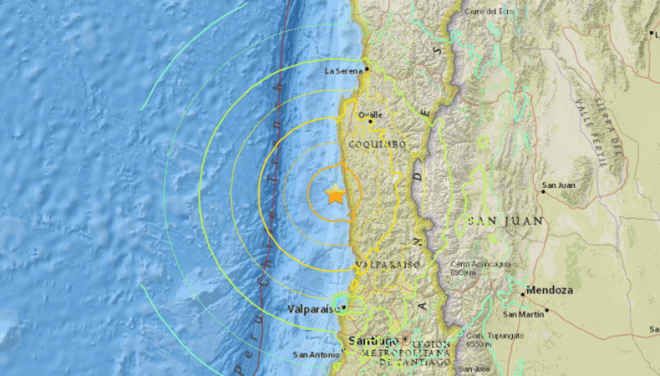 Chile Earthquake on Wednesday 16th 2015