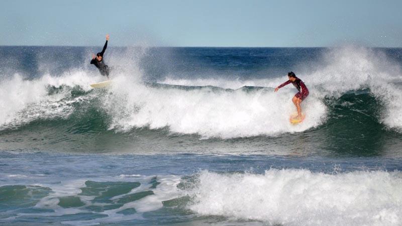 Surfs up on Florianopolis Beach- Brazil