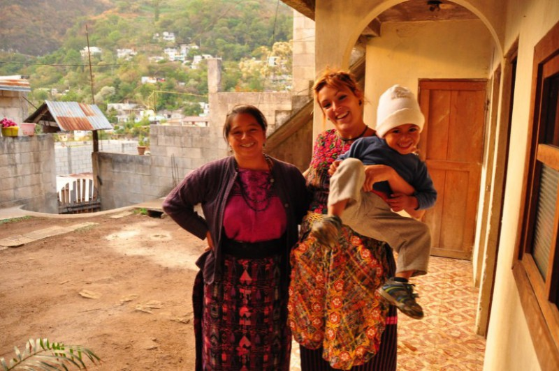 solo travel tips 3: accommodations - young solo traveller in a homestay in central america
