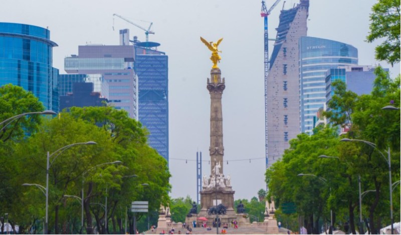 view of the mexico city angel