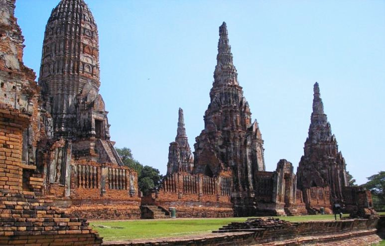 The Wat Ratchaburana Temple in Thailand- ancient ruins in Asia