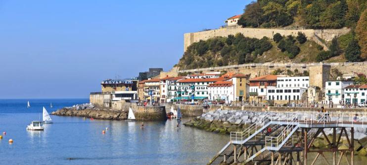 The beautiful beach town of Playa de la Concha, an underrated beach in Europe