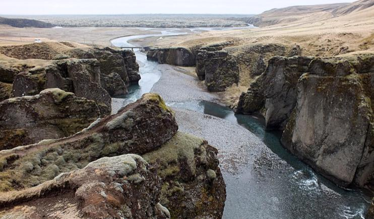 The stunning landscape of the Fjaðrá River-Main Rivers in Europe