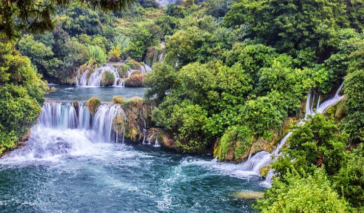 The stunning waterfalls of Krka River -Main Rivers in Europe
