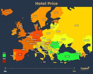 These GIF Maps Show the Best Time to Visit Every Country in Europe!