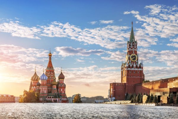 Colourful buildings in Moscow