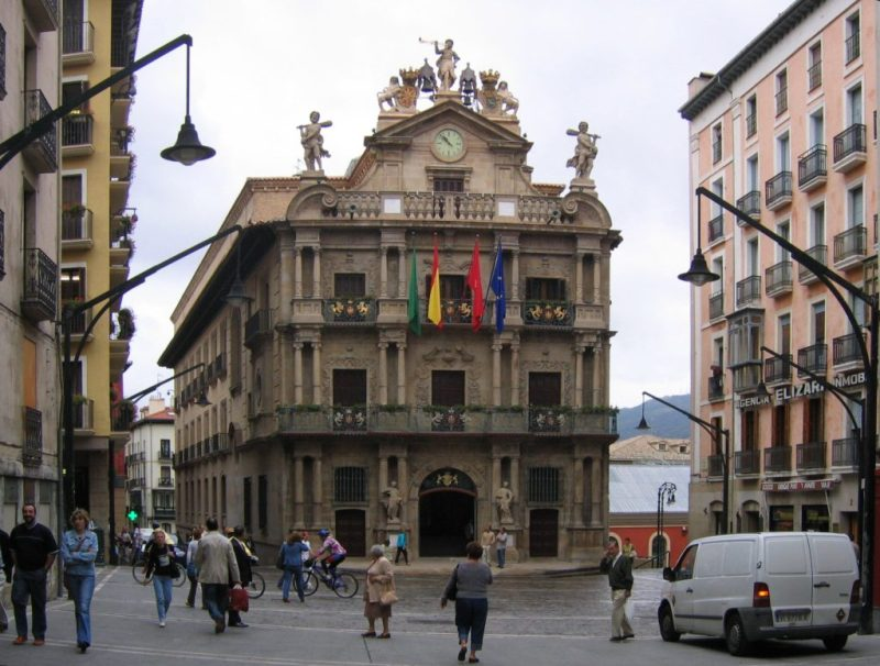 City Hall in Pamplona Spain