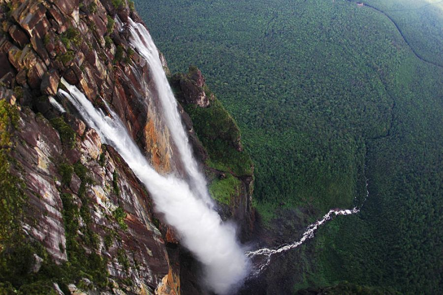 A view of Angel Falls Venezuela from above