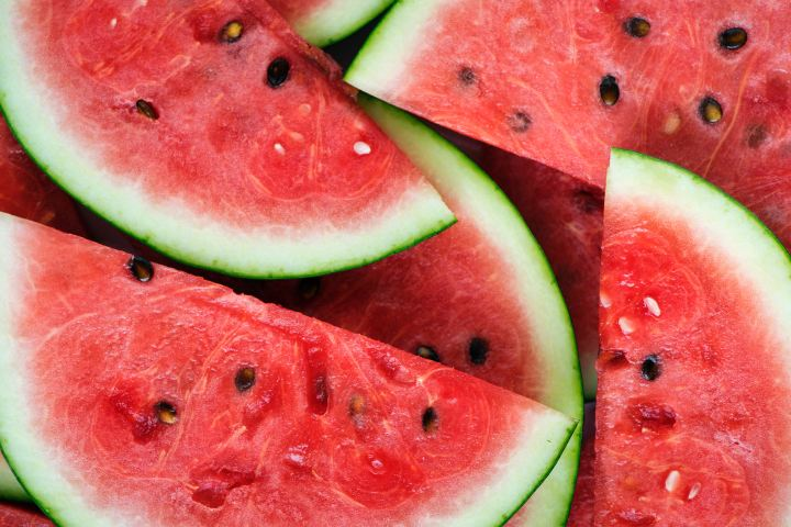 A pile of watermelon slices