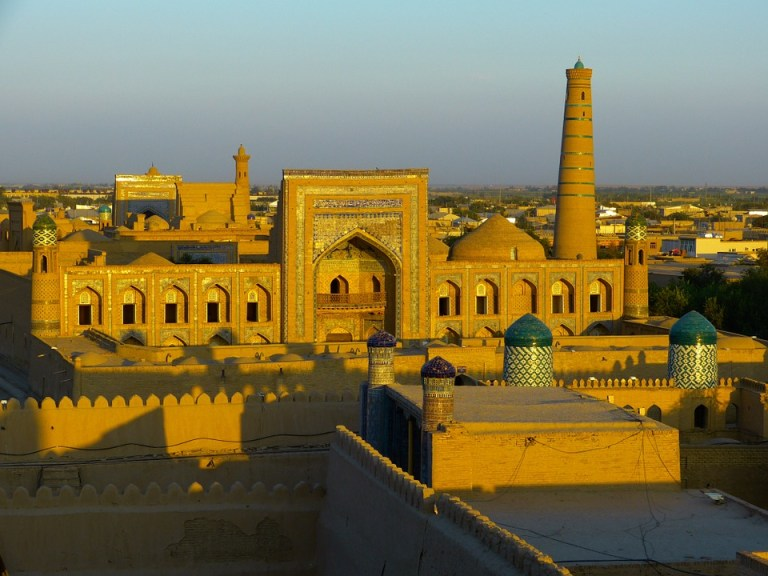 City View of Khiva in Uzbekistan