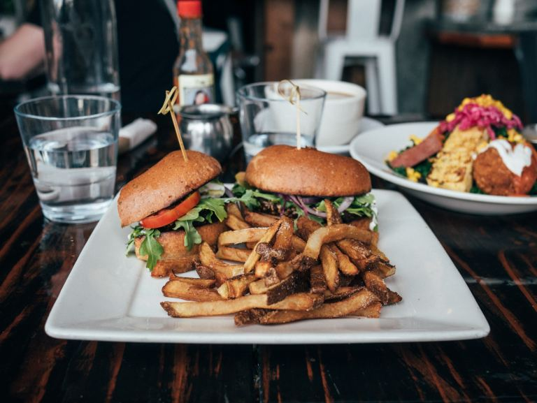 Vegetarian burgers from Sage Plant Based Bistro, United States