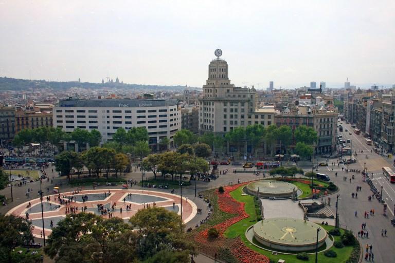 Plaça Catalunya, Barcelona Spain