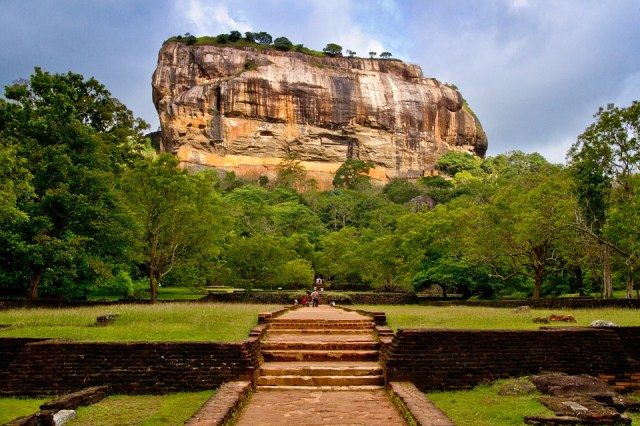 Path leading to the Sigiriya Ancient City in Sri Lanka