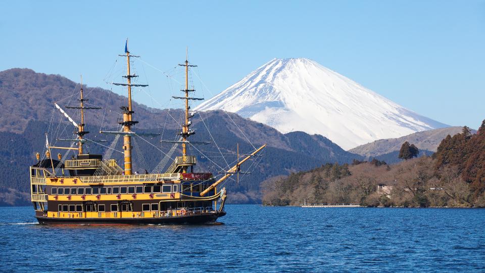 Mt Fuji from Lake Ashi
