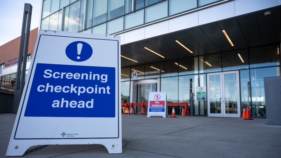 screening checkpoint in Canada