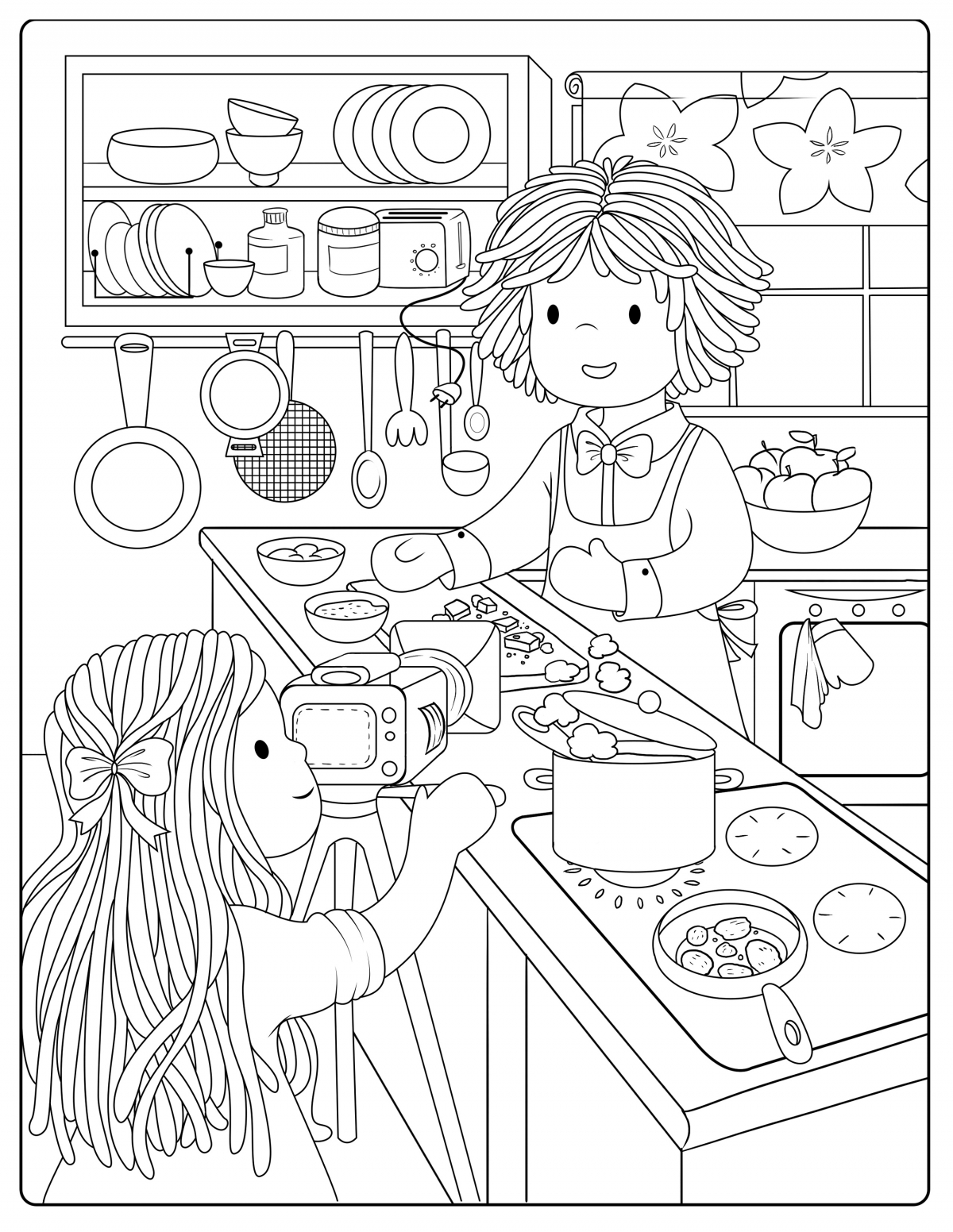 Cooking Show Colouring Page Bamboletta Blog