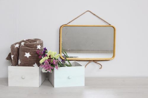 espejo rectangular - cajones