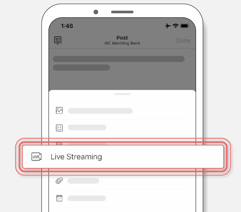 how to use live streaming on band