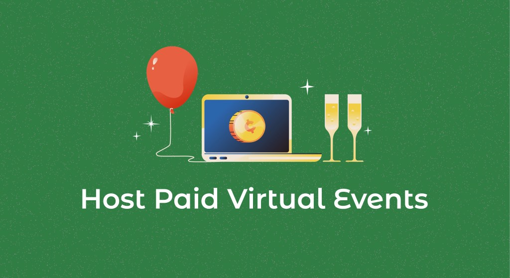 Host paid virtual events