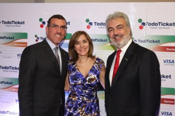 Juan Carlos Escotet Rodríguez: Miguel Ángel Marcano, Patricia Riera and Luis Xavier Lujan