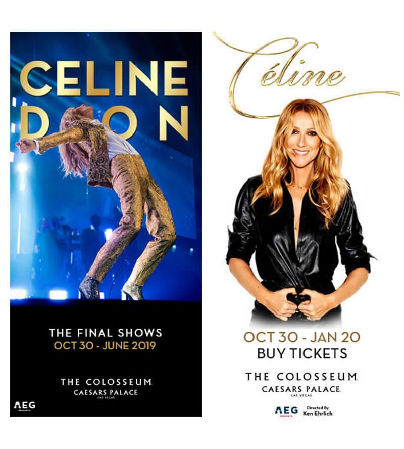 Biểu ngữ CELINE DION cho buổi hòa nhạc