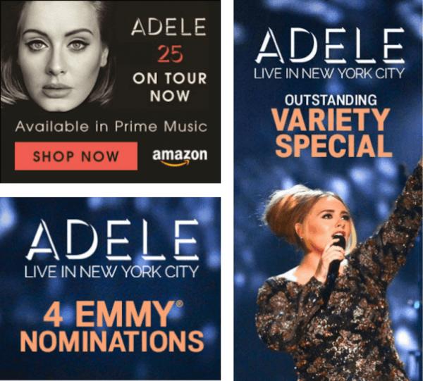 Quảng cáo biểu ngữ Adele