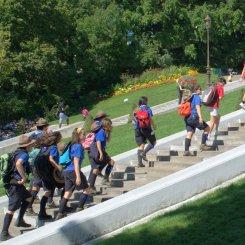 climbing steps together at Montmatre