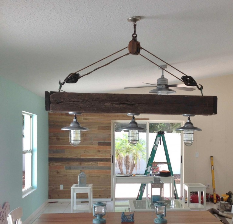Atomic Pendants Flavor Remodeled Beach Home With Nautical