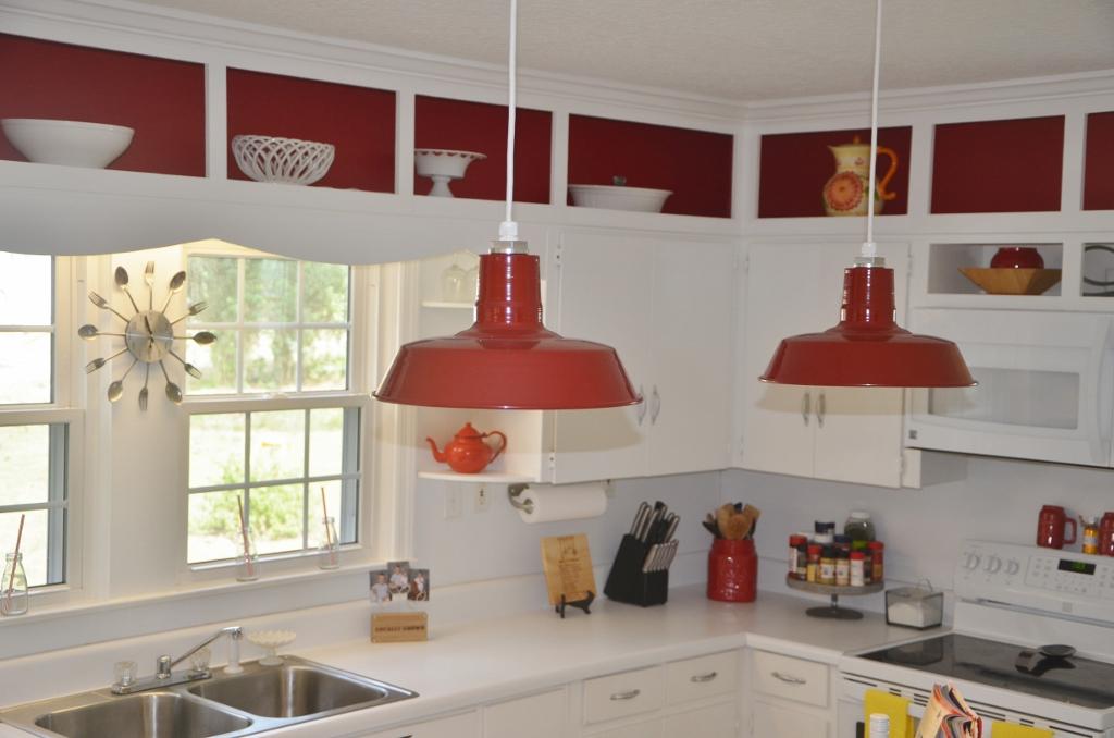 Barn Pendant Lights Define Modern Country Kitchen