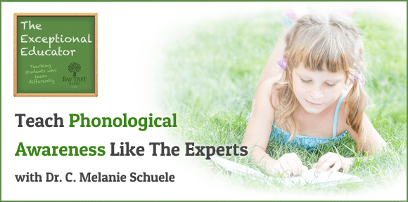 Teach Phonological Awareness Like The Experts With Dr. C. Melanie Schuele (BayTreeBlog. com)