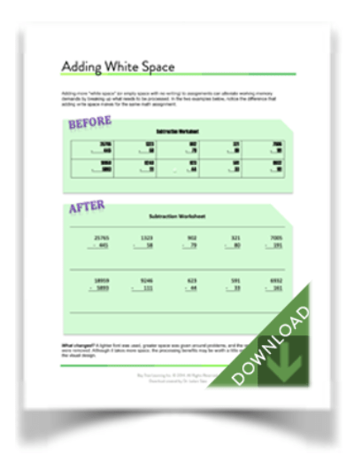 "Download ""Adding White Space"" (from BayTreeBlog.com)"