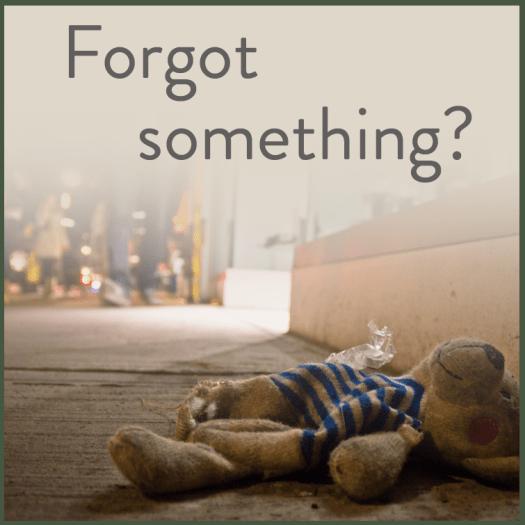 Forgot Something? (BayTreeBlog.com)