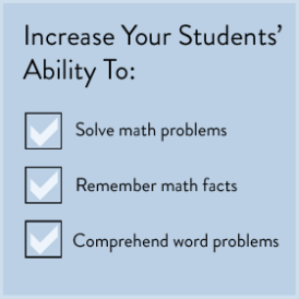 Increase Your Students' Ability To: *Solve Math Problems *Remember Math Facts *Comprehend Word Problems (BayTreeBlog.com)