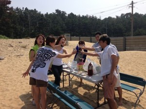 奈多海岸乾杯♪♪