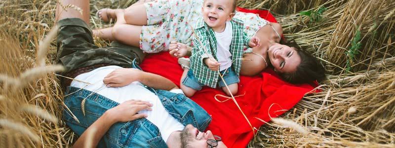 al campo con el bebé