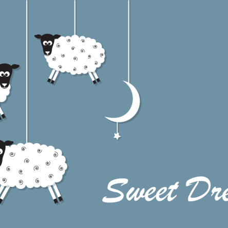 sweet dreams sleeping sheep