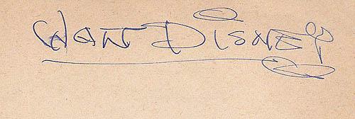 Authentic Walt Disney signature 1930