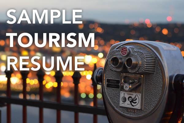tourism resume sample bcjobs ca