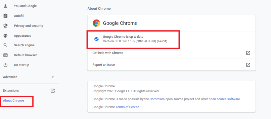 Check Google Chrome Version