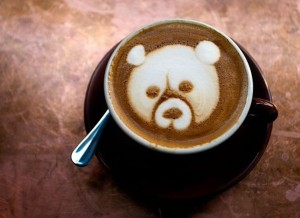 bear latte art