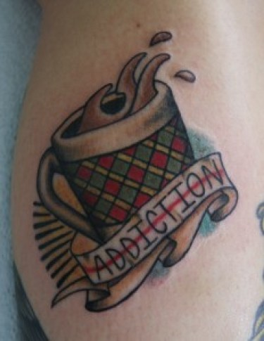 flash coffee tattoo