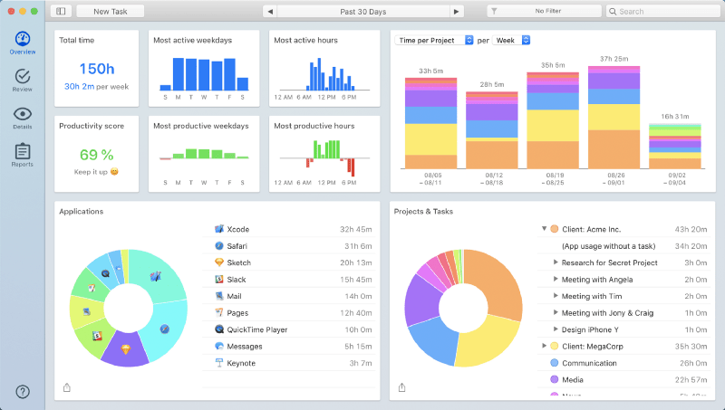 Track your Bear work with Timing for Mac
