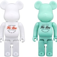 Fire-King 400% WHITE / JADE-ITE ベアブリック (BE@RBRICK) [情報その2]